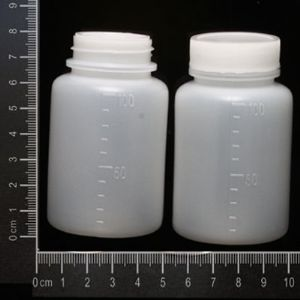 Small Plastic Bottles, Plastic, white, 4.8cm x 4.8cm x 8cm, 100ml, 2, (GZS021)